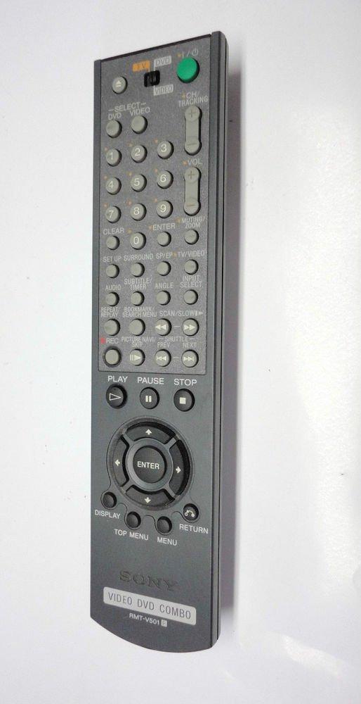 SONY RMT V501 R  REMOTE CONTROL DVD TV VIDEO combo SLVD 100 251P 3009 350P 550P