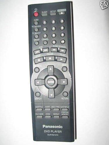 Panasonic remote control EUR7621070 - DVDS23 DVDS25 DVDS25P DVDS25U DVD player
