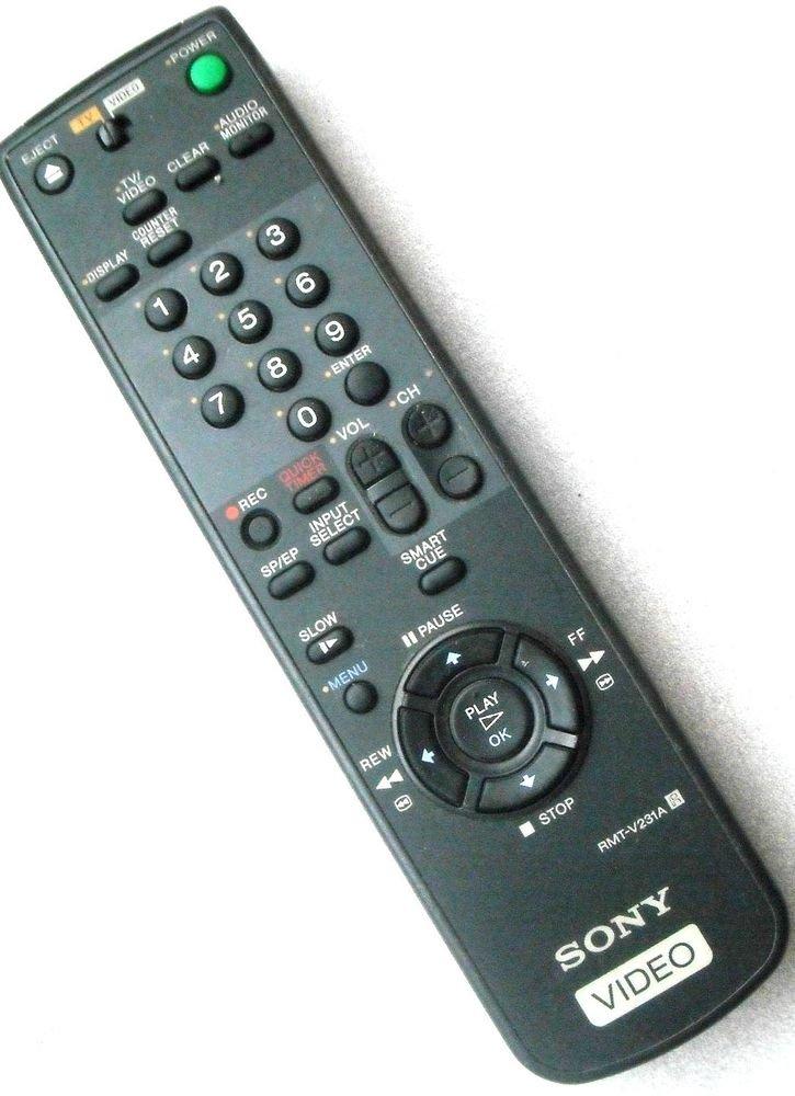 Remote Control SONY RMT V231A - SLV469 SLV478 SLV677HF SLV678 SLV678HF VHS VCR