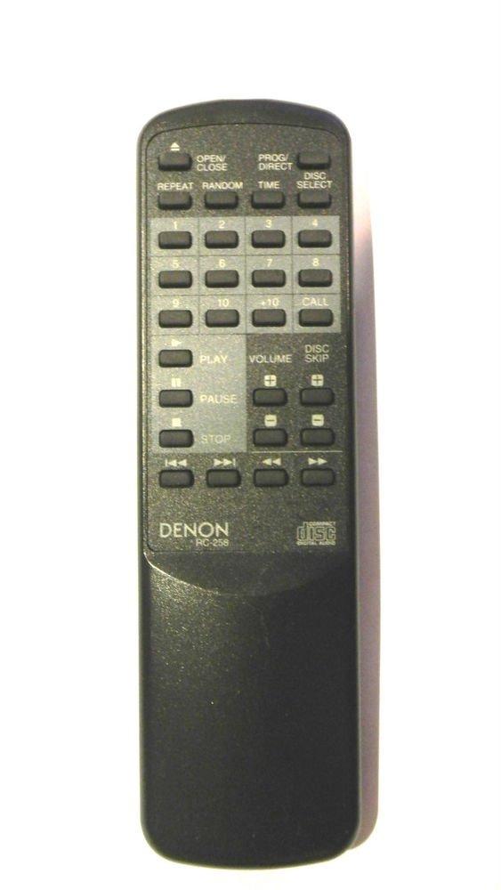 Denon RC 258 Remote Control - DCM 380 370 280 270 260 65 35 DMT 7666 cd player