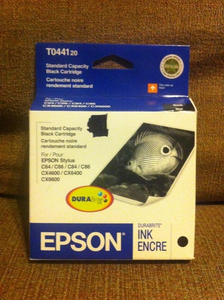 Epson T0441 BLACK Ink C64 C66 C84 C86 CX4600 CX6400 CX6600 printer TO441