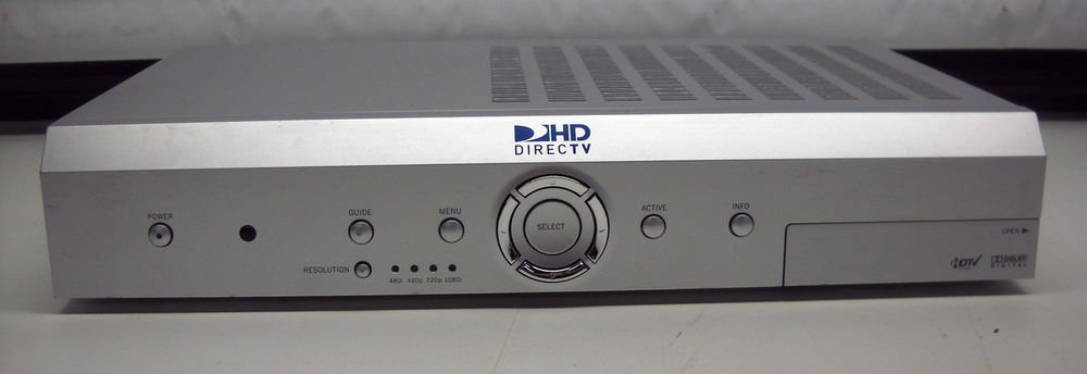 DirecTv model H20 Receiver w/ac power cord Satellite cable box Direct TV DTV HD