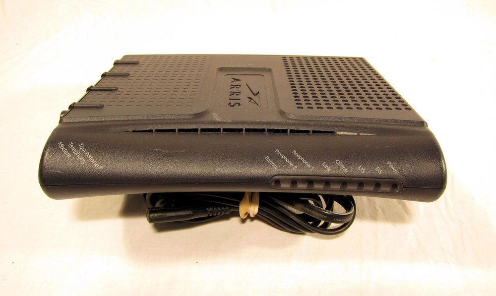 ARRIS TM602G/CT-8 TRK - internet cable phone modem VOIP Touchstone Telephony MAC