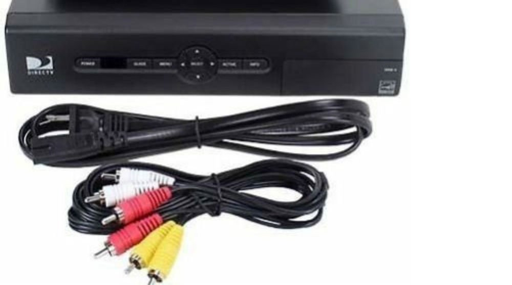 Model D12 100 DirecTv Receiver ac & video cord Satellite cable box Direct TV DTV