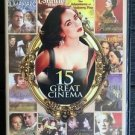 15 GREAT CINEMA 2 DVD ELIZABETH TAYLOR SEAN CONNERY GREGORY PECK CHARLTON HESTON