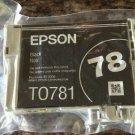 Epson T0781 BLACK ink jet Photo Stylus R260 R280 R380 RX580 RX595 printer to781