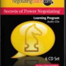 new - Secrets of Power Negotiating negotiating coach 9 audio CD's in 3 box set