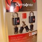 new Samsonite KEY LOCK TSA airport baggage luggage accepted approved new