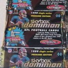 3 packs football new - 1999 SKYBOX DOMINION HOBBY autographics warp tek LIMITED!