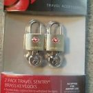 new Samsonite BRASS KEY LOCK TSA airport baggage luggage accepted approved new