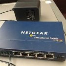 FS105 (wide) NETGEAR fast ethernet router modem switch hub FS 105 10/100 MBPS