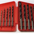 NEW CARBON STEEL electric power hand DRILL BIT SET 13PC from 1/16 to 1/4 w/CASE