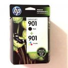 901 BLACK & COLOR ink jet HP - printer Officejet 4500 J4680 J4550 J4580 J4540