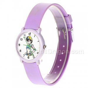 Lovely and Fashion Sailor Moon Picture Wrist Watch for Children (Purple)