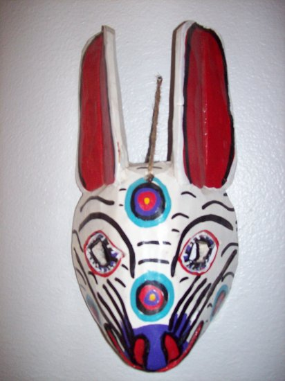 hand carved mexican folk art mask