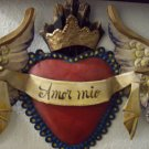 mexican folk art tin doves sacred heart