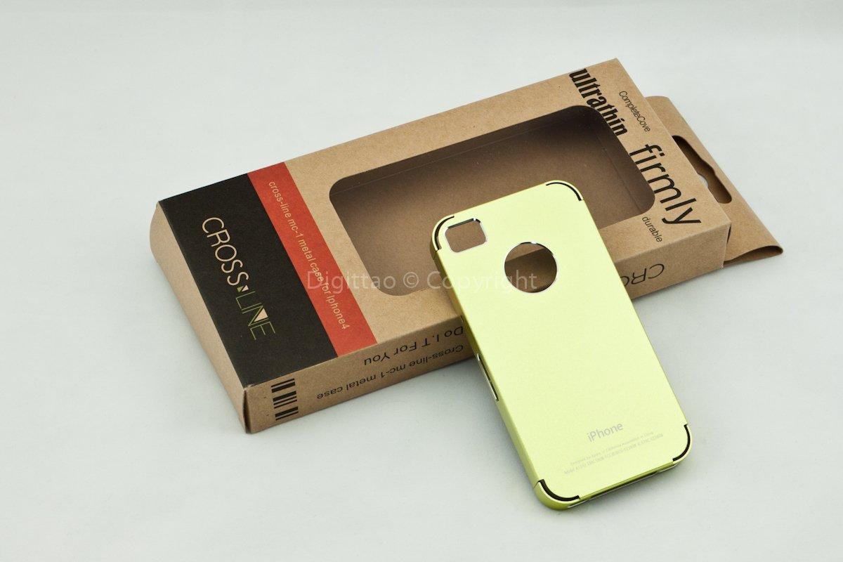 iPhone4 cases Crossline (Shiny Yellow)