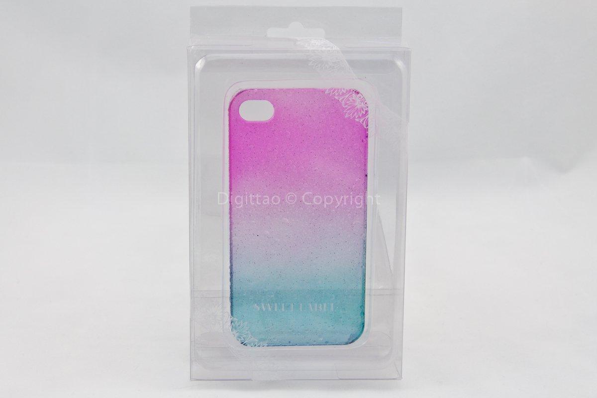 iPhone 4 case WaterDrops Sweet label (FUCHSIA & AQUA))