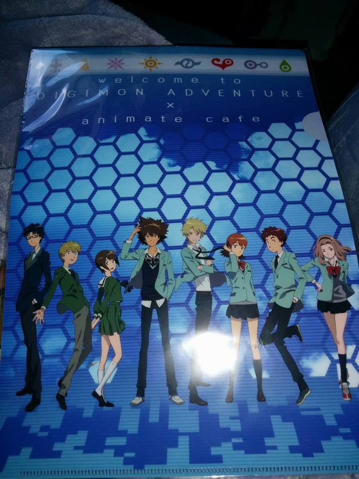 Digimon Adventure Tri DigiDestined Chosen Children Crest Digivice Animate Cafe Clear File Exclusive