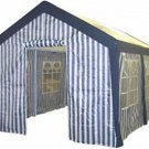 Blue & White Striped Party Tent