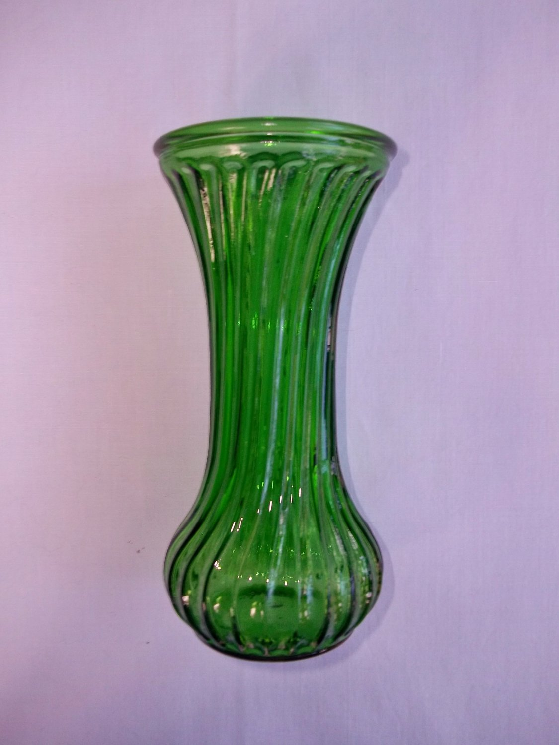 hoosier green glass vase. Black Bedroom Furniture Sets. Home Design Ideas