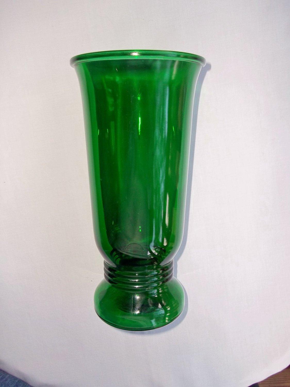 vintage napco emerald green glass vase. Black Bedroom Furniture Sets. Home Design Ideas