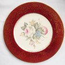 ANTIQUE IMPERIAL FLORAL CHINA CHARGER PLATE, 23K GOLD TRIM