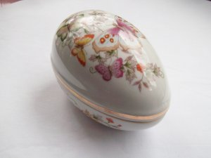 Avon Vintage 1974 Collectible Porcelain Egg