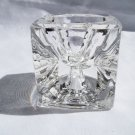 Glass Cube Candle Holder - Two Sides/Two Size Candles