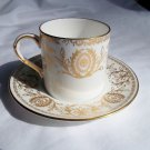 "ROYAL WORCESTER FINE BONE CHINA ""Pompador"" DEMITASSE CUP AND SAUCER"