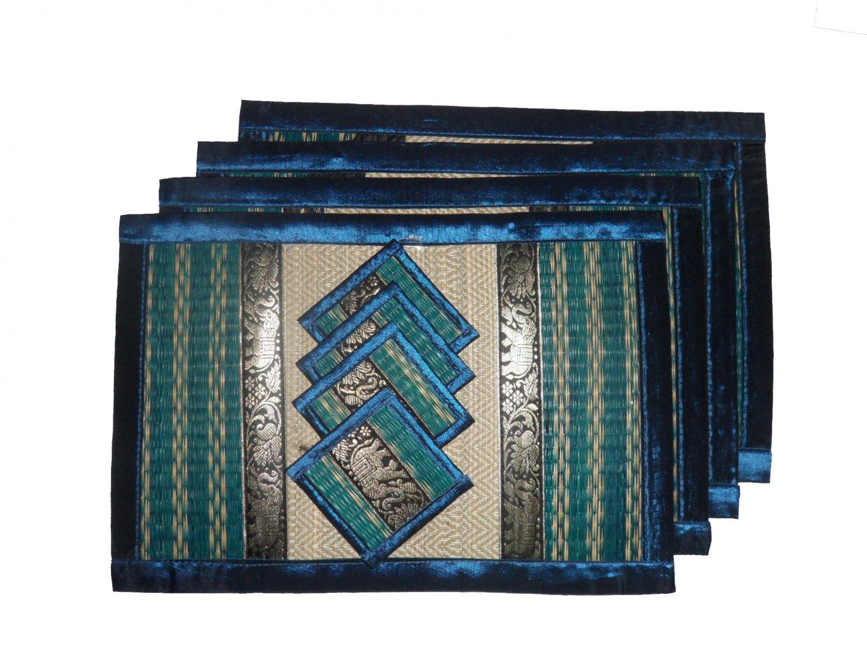 THAI NICE BLUE SEDGE TABLE MATS