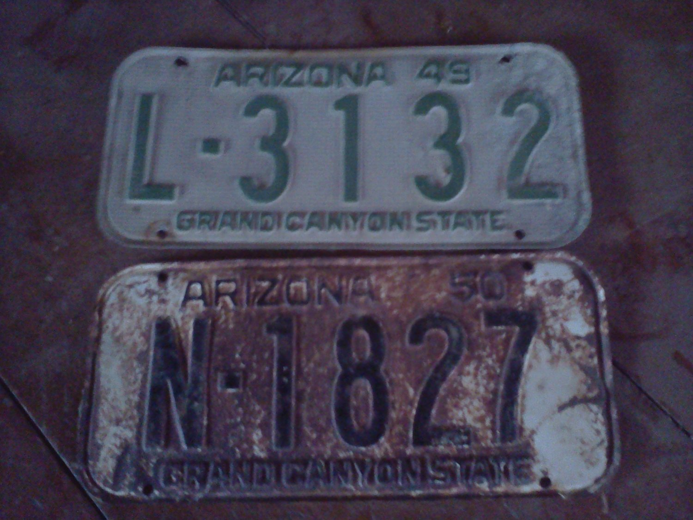 1949 ARIZONA LICENSE PLATE