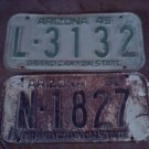 1949 ARIZONA LICENSE PLATE