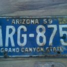 1959 ARIZONA LICENSE PLATE