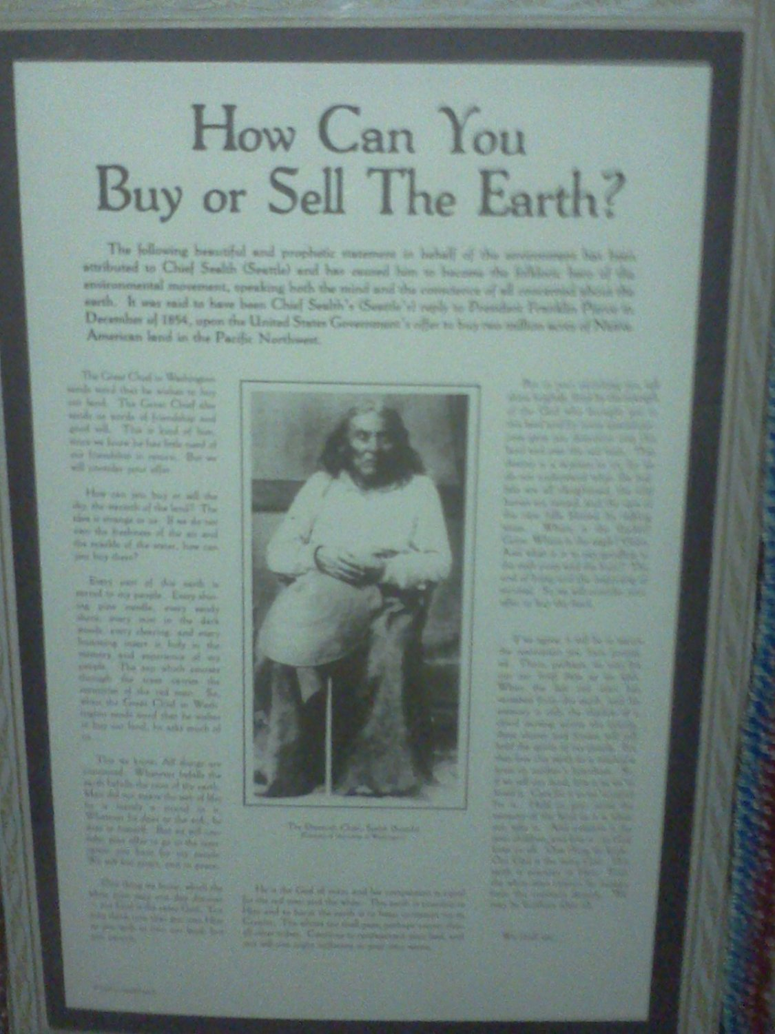 CHIEF SEATTLE PICTURE
