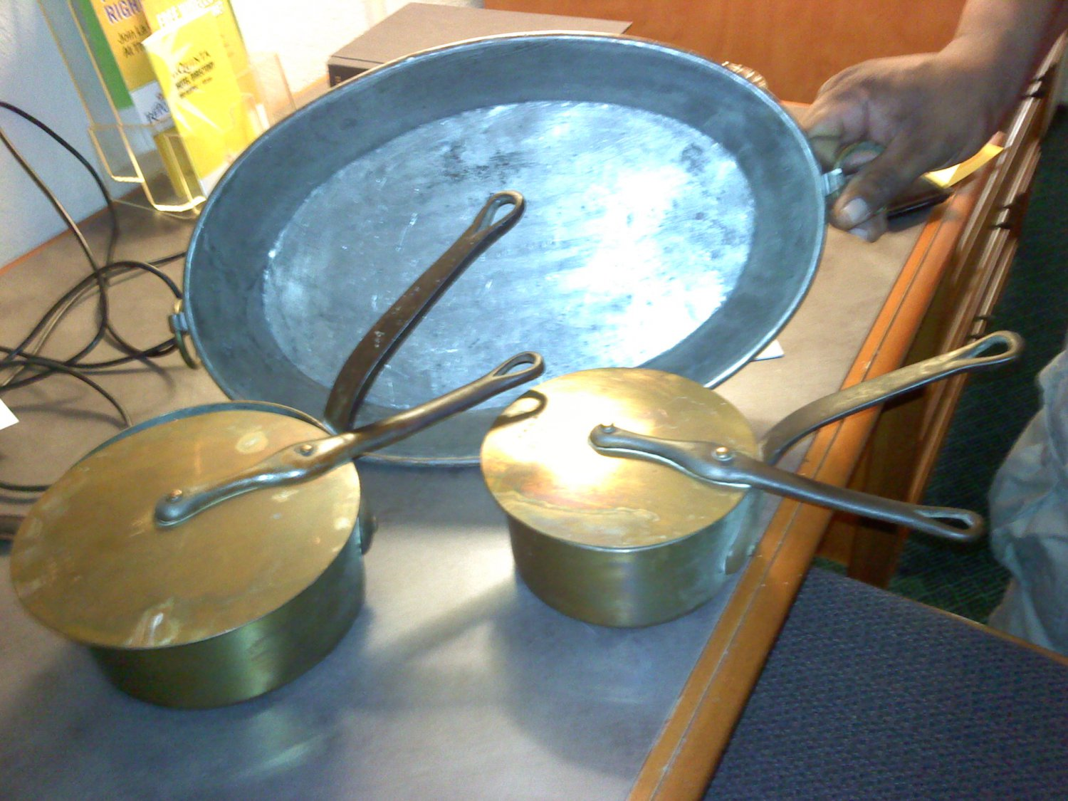 1944 FRENCH COPPER POTS