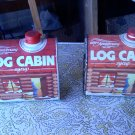 100th ANNIVERCERY LOG CABIN TINS