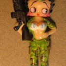 Betty Boop 3 inch Soldier - Green camo, KG-BX