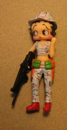Betty Boop 3 inch Soldier - Pale blue camo pants &amp; vest