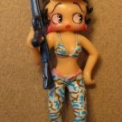Betty Boop 3 inch Soldier - Pale blue camo pants&bikini