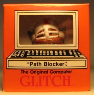 Computer Glitch 2 inch figure 1989 - Path Blocker