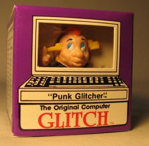 Computer Glitch 2 inch figure 1989 - Punk Glitcher