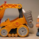 Rescue Heroes EMV Bulldozer + Bill Barker LOOSE