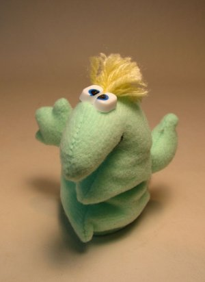 Rumpus  4.5 inch plush Eggel Pale Green LOOSE 1997