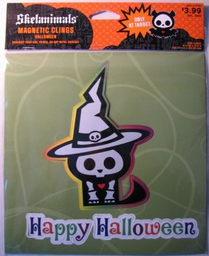 Skelanimals 8x8 Magnetic Cling - Skele-witch