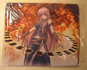 Vocaloid Sexy Megurine Luka mouse pad (in ring)