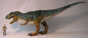 Jurassic Park 30 inch Electronic Bull T-Rex + victim