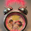 High School Musical Alarm Clock w pink fuzzy handle