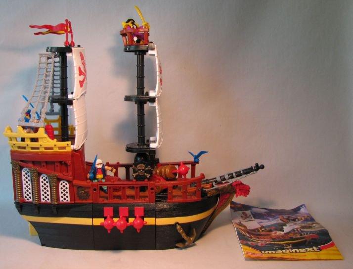 Fisher Price Imaginext Pirate Raider Ship Loose