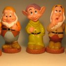 Disney 7 Dwarfs Set - vinyl 5.2 inch figures LOOSE